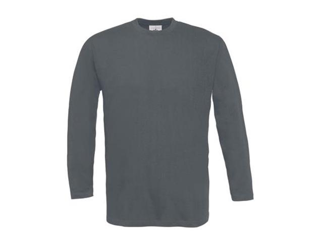 Afbeelding van B & C Exact 190 Lsl T Shirt Donkergrijs S Shirts