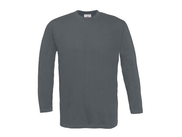 Afbeelding van B & C Exact 190 Lsl T Shirt Donkergrijs L Shirts