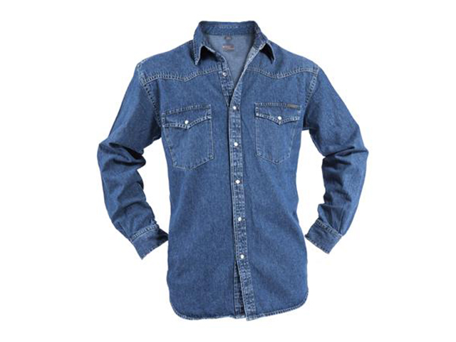 Afbeelding van Bram'S Paris Brad 2.353/A54 Spijkeroverhemd Blauw L Overhemden