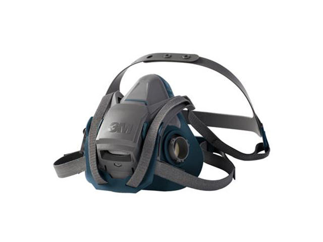 3M 6502QL Halfgelaatsmasker Grijs/blauw M