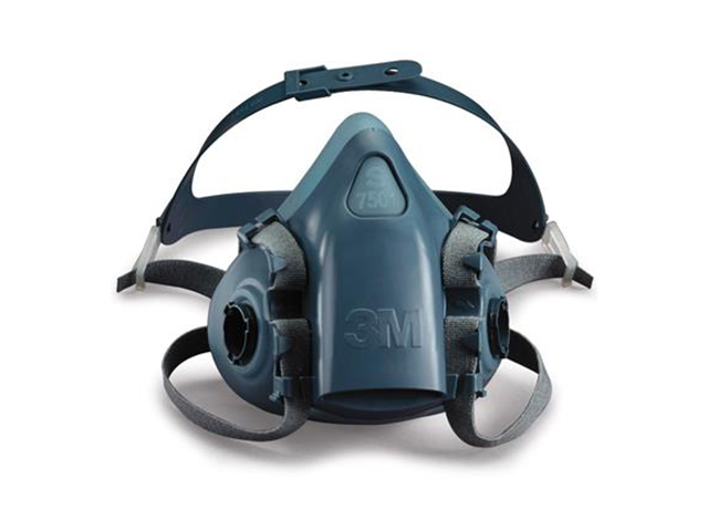 3M 7501 Halfgelaatsmasker Blauw S